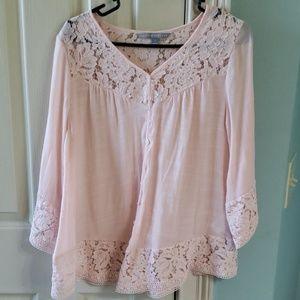 Valerie Stevens pink women's blouse size small